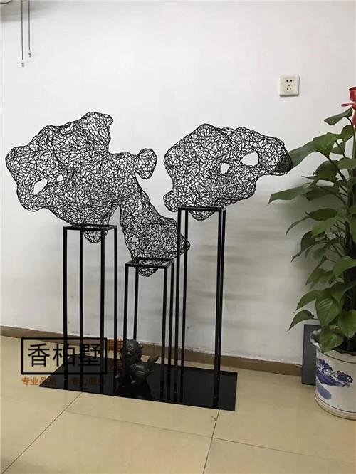 创意客厅软装饰品   抽象铁艺艺术品 雕塑  样板房玄关处装饰摆件