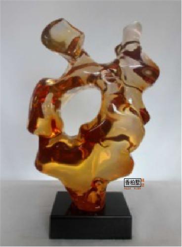 透明树脂雕塑摆件 抽象玄关扭曲创意桌面水晶工艺品 琉璃铂晶雕塑