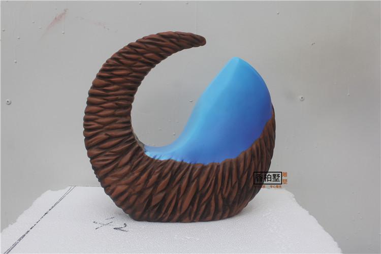 玻璃钢摇篮摆件透明树脂制作半圆月桌面样板房酒柜招财艺术品雕塑