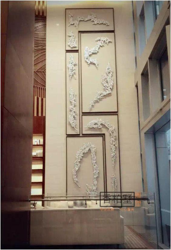 现代创意简约酒店宾馆会所高档墙面壁饰合金镀铜艺术背景雕塑摆件