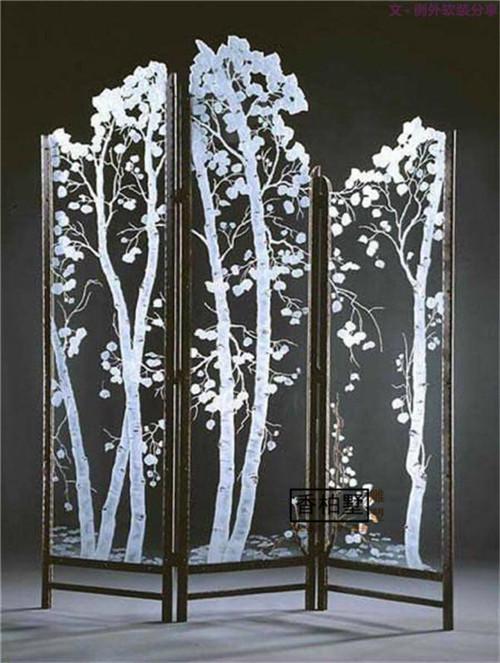 创意抽象艺术 大型落地屏风摆件  简约现代时尚摆设品 不锈钢雕塑