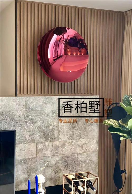 创意简约圆盘镜面不锈钢酒店家居会所墙面饰品挂件艺术品雕塑摆件