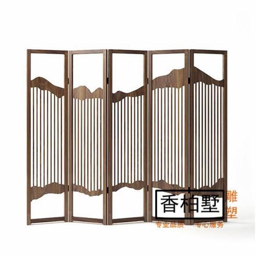 新中式屏风隔断客厅卧室遮挡折叠移动简约装饰背景墙酒店大堂摆件