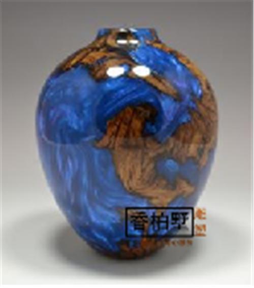 轻奢花瓶水琉璃摆件新中式创意简约家居装饰书房客厅饰品插花花器