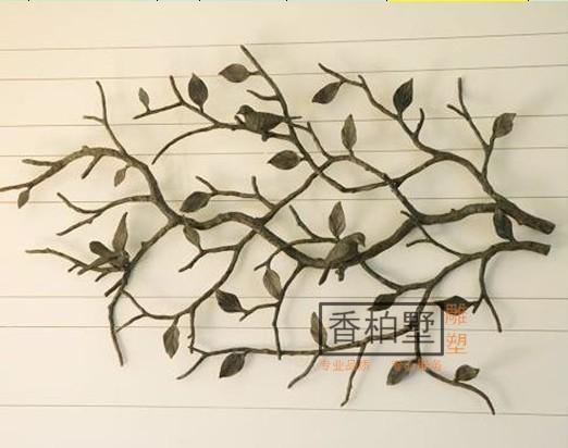 创意简约树脂烤漆树脂鸟金属铁艺墙面软装饰背景壁饰挂件雕塑摆件