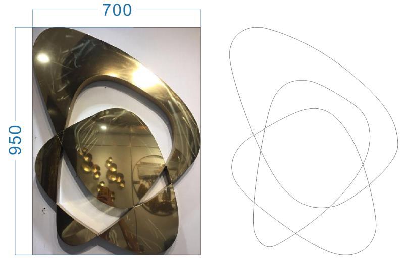 不锈钢不规则铜镜
