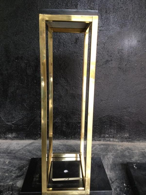 电镀香槟金大理石底座金属框架摆台