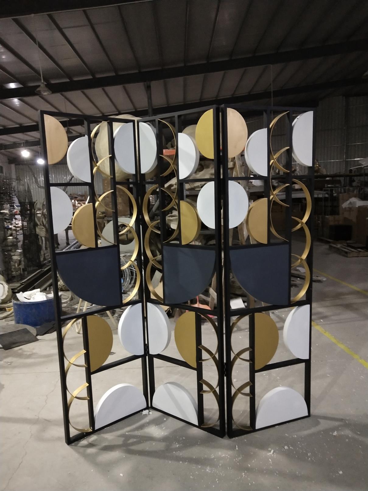 金属材质欧式屏风